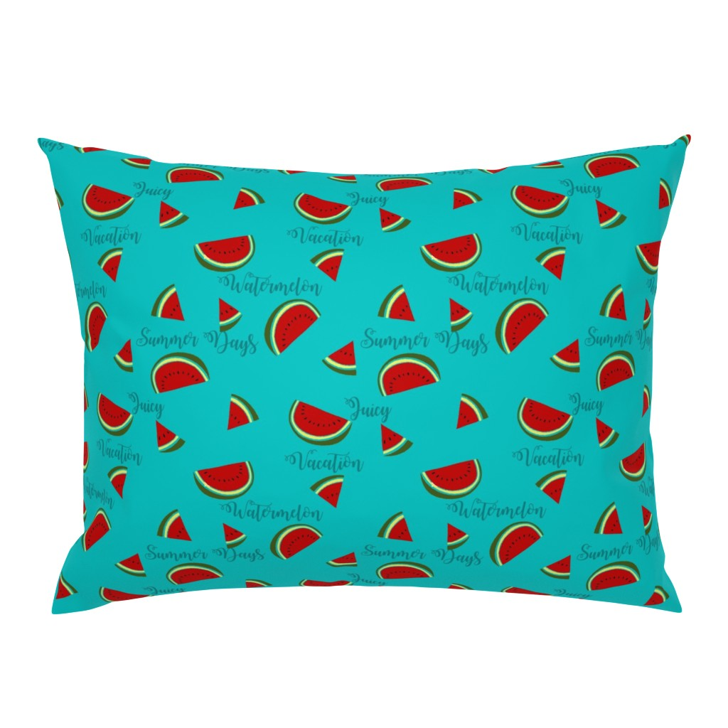 Campine Pillow Sham featuring Summer Watermelon Slices  by gypsea_art_designs