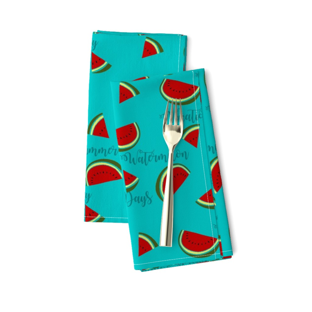Amarela Dinner Napkins featuring Summer Watermelon Slices  by gypsea_art_designs