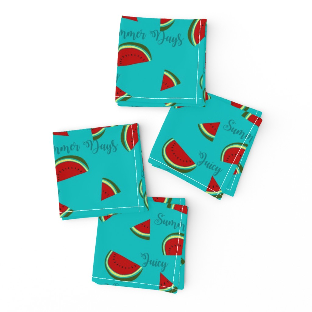 Frizzle Cocktail Napkins featuring Summer Watermelon Slices  by gypsea_art_designs