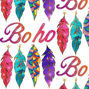 Colorful Boho Feathers