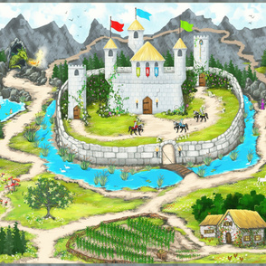 Enchanted Castle - Eco Canvas Playmat- Kim Marshall