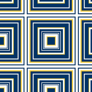 The Navy and the Yellow: Concentric Squares