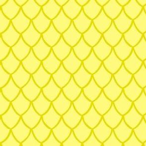 Yellow Mermaid Scales Small