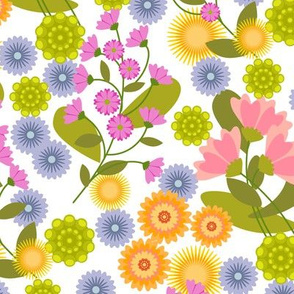 Summer Floral Brights and White