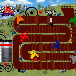 Dirt Bike Race Track 36x42