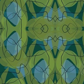 50's Endpaper Green-01