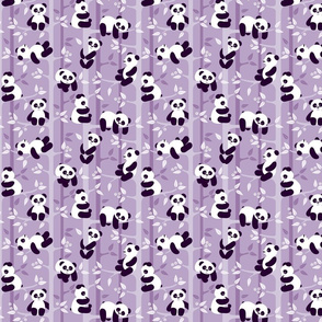 panda forest lilac - small