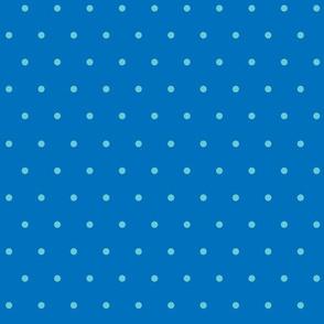 Vintage polka dot blue