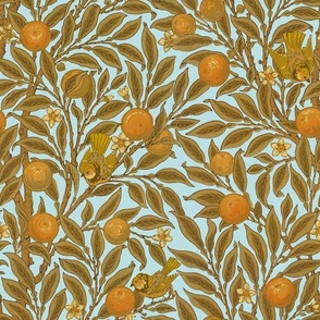 Orange Boughs ~ William Morris ~ Audrey  ~ Medium