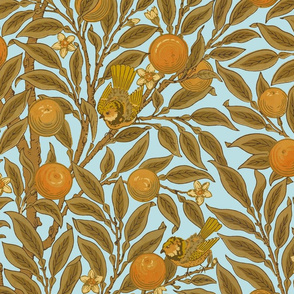 Orange Boughs ~ William Morris ~ Audrey  ~ Large