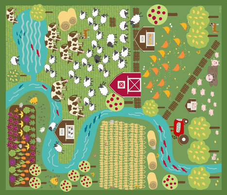 Farmyard play mat