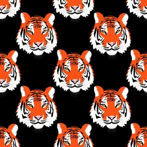 Jungle Tigers on Black