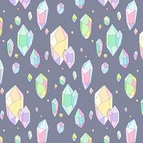crystals grey