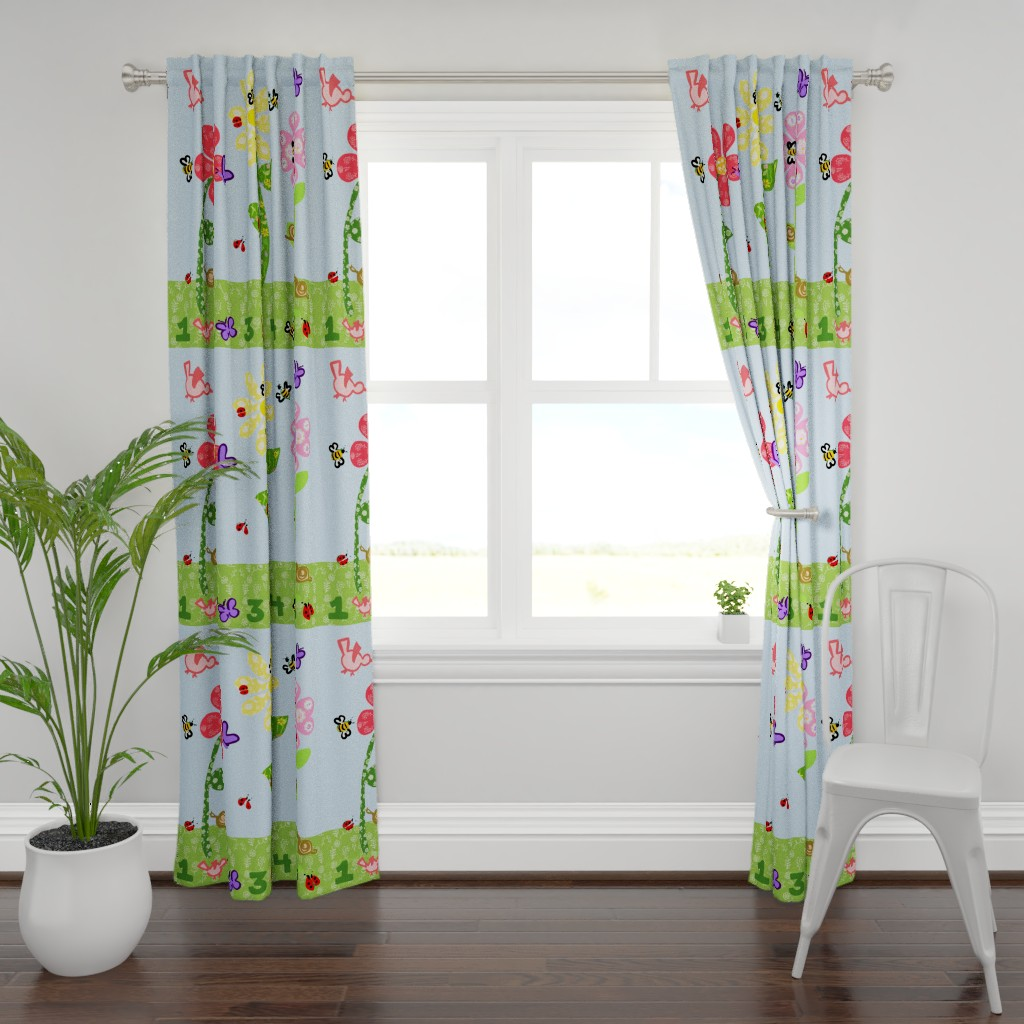 Plymouth Curtain Panel featuring Look Who's in the Garden! - Full Yard by teawithxanthe