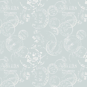 Letter Box Posted: Soft Blue Reverse