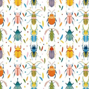 Colourful beetles