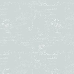 Letter Box Remnants: Soft Blue Reverse