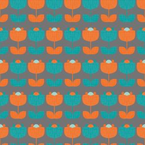 MCM Flowers Teal Orange