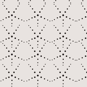 Art Deco dot scallops linen