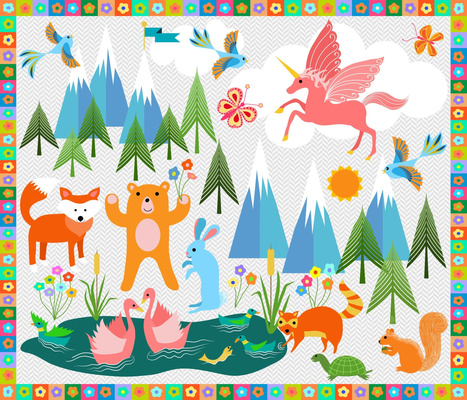 Name the Animals Toddler Playmat