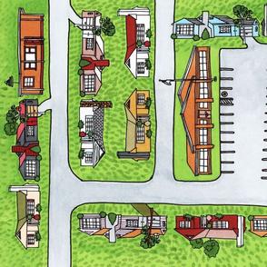 Suburban Lawns (duvet design)