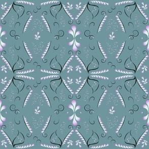 Morning dew folklore pattern