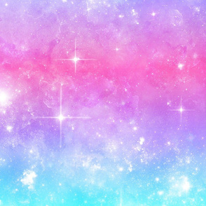 "Pink & Blue Pastel Galaxy Gradient 12"""