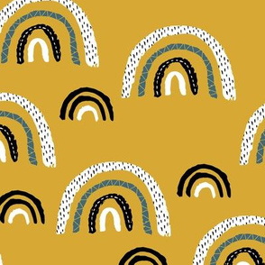 I wanna be a rainbow high in the sky cool abstract trend print summer fall yellow ochre