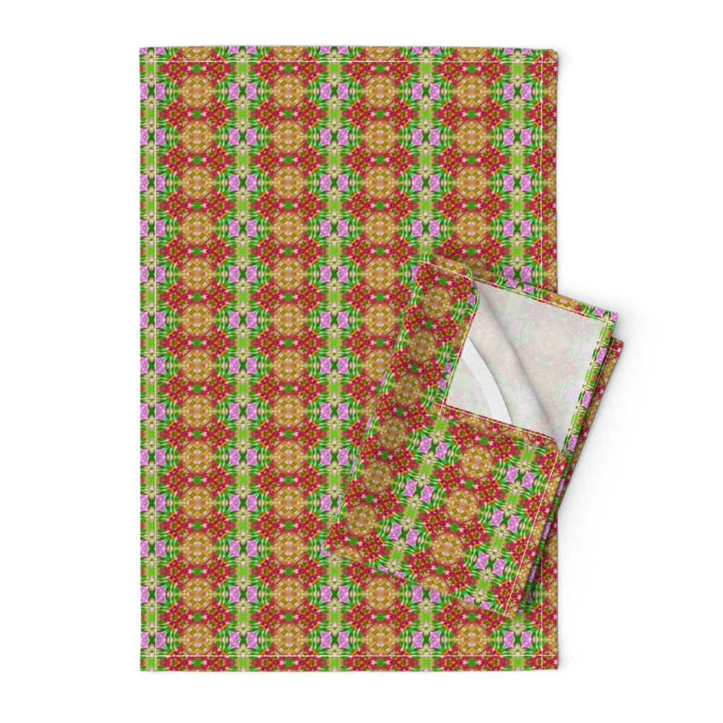Orpington Tea Towels featuring Holiday Diamond Stripes by just_meewowy_design