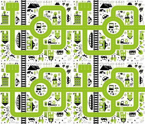 eco city playmat - fat quarter