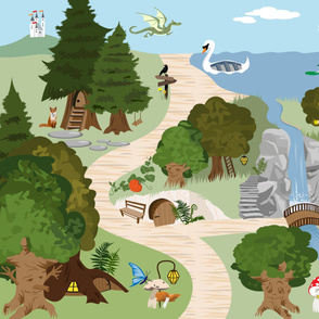 enchanted forest playmat
