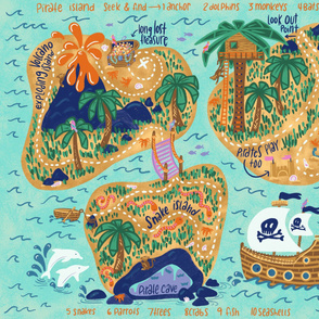 Pirate Island Seek & Find Playmat