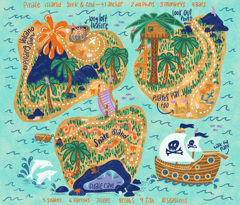 Pirate Island Seek & Find Playmat