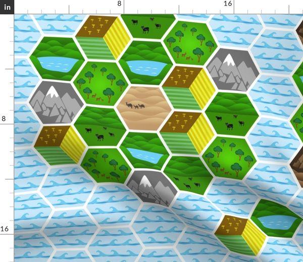 RPG Adventure Map 1 - Spoonflower