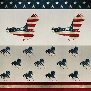 Americana 1 or 2 yard print