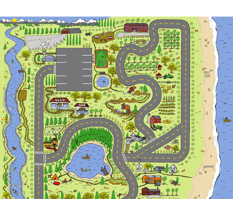 Country Roads Outdoor Adventure Play Mat