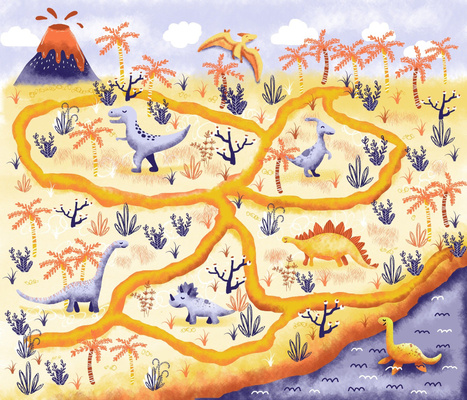 Journey to the dinosaurs playmat