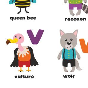 "animal alphabet  blanket 54x72"""
