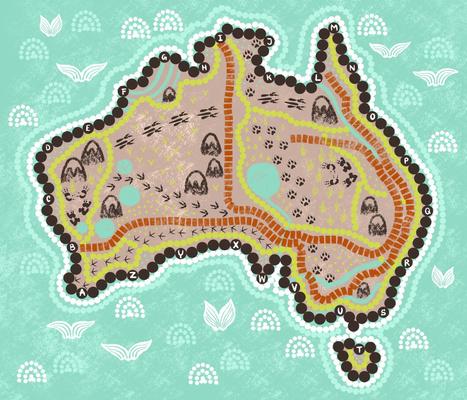 Explore Australia playmat