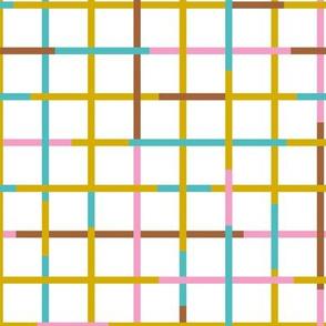 Check please little checkered geometric modern minimal design grid summer girls ochre pink blue