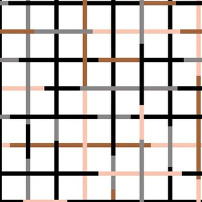 Check please little checkered geometric modern minimal design grid summer gender neutral and boys black gray rust