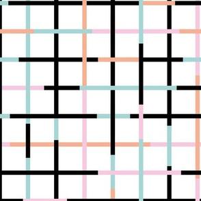 Check please little minimal style checkered geometric modern minimal design grid summer girls pink peach