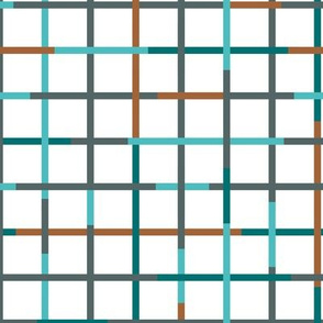 Check please little minimal style checkered geometric modern minimal design grid winter summer boys blue