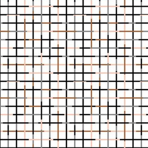 Check please little checkered geometric modern minimal design grid summer gender neutral and boys black gray rust SMALL