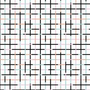 Check please little minimal style checkered geometric modern minimal design grid summer girls pink peach SMALL