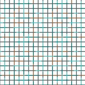 Check please little minimal style checkered geometric modern minimal design grid winter summer boys blue SMALL
