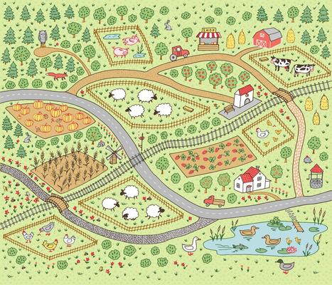 Happy Farmland Playmat