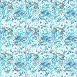 Blue Fish & Stars