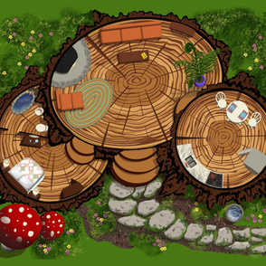Forest Fairy House Playmat