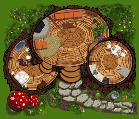 Forest Fairy House Playmat